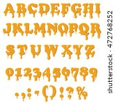 caramel alphabet with numbers...