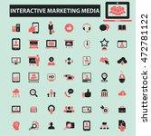 interactive marketing media... | Shutterstock .eps vector #472781122