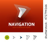 navigation color icon  vector...