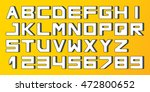 square font  letters and... | Shutterstock .eps vector #472800652