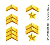 military rank signs. golden...