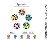 ayurveda vector illustration... | Shutterstock .eps vector #472817092