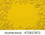 yellow alphabet frame background | Shutterstock . vector #472817872