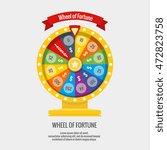 fortune spinning wheel in flat...   Shutterstock .eps vector #472823758