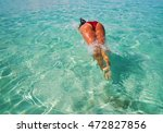 fomentera  a dip in the crystal ... | Shutterstock . vector #472827856