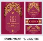 wedding invitation or cards. | Shutterstock .eps vector #472832788