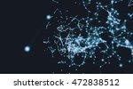 futuristic virtual technology... | Shutterstock . vector #472838512