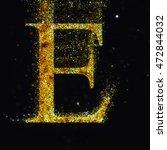 gold letter e   Shutterstock . vector #472844032
