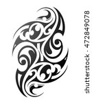maori tattoo. ethnic ornament... | Shutterstock . vector #472849078