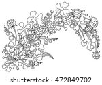 background with flowers and... | Shutterstock .eps vector #472849702