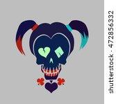 Vector Hipster Skull...