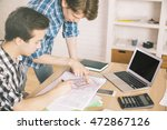 two young businessmen... | Shutterstock . vector #472867126