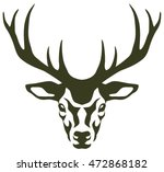 stylized illustration of a deer ... | Shutterstock .eps vector #472868182