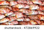 red mullet fish well ordered ... | Shutterstock . vector #472869922