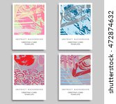 set of artistic backgrounds ... | Shutterstock .eps vector #472874632