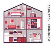infographic home layout... | Shutterstock .eps vector #472878532