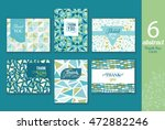 six abstract vintage thank you... | Shutterstock .eps vector #472882246