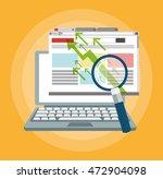 laptop lupe ecommerce shopping...   Shutterstock .eps vector #472904098