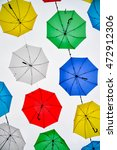 colorful umbrellas background | Shutterstock . vector #472912306
