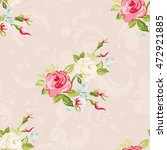 seamless floral pattern with... | Shutterstock .eps vector #472921885