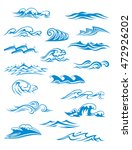 ocean or sea waves  surf and... | Shutterstock . vector #472926202