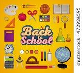 back to school. 3d rendering   Shutterstock . vector #472926595