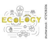 ecology template banner on... | Shutterstock .eps vector #472928206