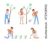 set of cartoon gardening... | Shutterstock .eps vector #472928902