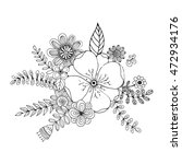 flower doodle drawing freehand... | Shutterstock .eps vector #472934176