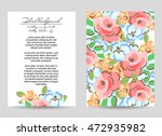 invitation with floral... | Shutterstock .eps vector #472935982