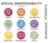 social responsibility outline... | Shutterstock .eps vector #472936972
