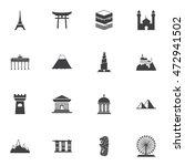 landmarks icons set vector | Shutterstock .eps vector #472941502
