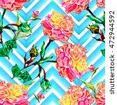 watercolor seamless pattern... | Shutterstock . vector #472944592