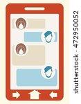 abstract messenger screen.... | Shutterstock .eps vector #472950052