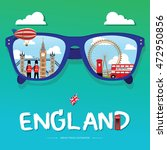 vector sun glass with england... | Shutterstock .eps vector #472950856