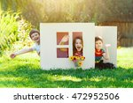 laughing children play in the... | Shutterstock . vector #472952506