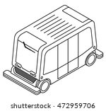 a driverless bus   shuttle.   Shutterstock .eps vector #472959706