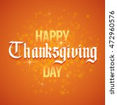 greetings card for thanksgiving.... | Shutterstock .eps vector #472960576