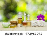 Bottles Of Aromatic Oils With...