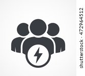 user group icon. management...