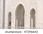 detail of sheikh zayed mosque...   Shutterstock . vector #47296642