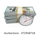 time is money illustration. 3d... | Shutterstock . vector #472968718