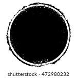 retro circle frame stamp banner.... | Shutterstock .eps vector #472980232