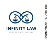 law firm logo template | Shutterstock .eps vector #472981108