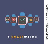 smart watch with time ...