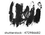 black hand painted brush stroke | Shutterstock . vector #472986682