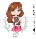 beautiful girl t shirt print... | Shutterstock .eps vector #472990762