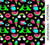 seamless pattern with fashion... | Shutterstock .eps vector #472993966