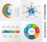 7 steps vector infographic... | Shutterstock .eps vector #473006386