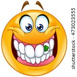 smiling emoticon with food...   Shutterstock .eps vector #473023555